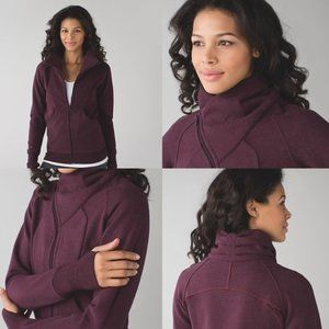 Lululemon Cozy Cuddle Up Jacket Heathered Bordeaux